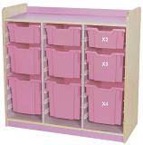 KubbyClass Triple Bay Combination Tray Storage Units