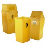 Outdoor Yellow Litter Bins