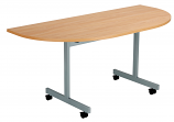 Next Day Flip Top D-End Conference Tables - 1400mm Wide