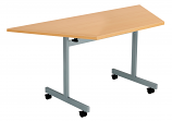 Next Day Flip Top Trapezoidal Conference Tables - 1600mm Wide