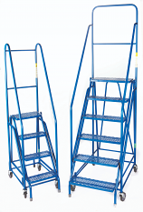 Fort 'Duplex' Weight Reactive Mobile Steps - Expanded Steel Treads