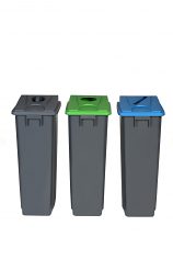 Recycling Waste Bins with Lid Options - 80 Litres