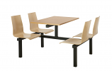 Wooden Seat Canteen Tables