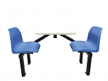 2 Seater Canteen Table - Access 1 Way