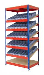 Anco Kanban Shelving with 70 Shelf Bins