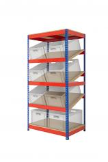 Anco Kanban Shelving with 3 Sloping Shelves