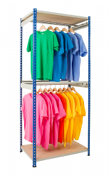Anco Rivet Garment Racks - Single Rail
