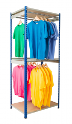 Anco Rivet Garment Racks - Double Rail
