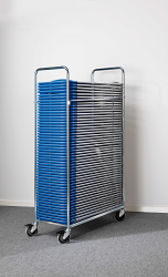 Folding Chair Trolley - Complete with 50 Chairs
