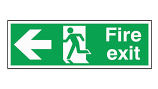 Fire Exit Sign - Left Arrow