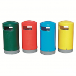 Coloured Outdoor Hooded Top Litter Bins