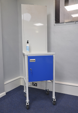 Sanitizer Station - Mobile Unit Steel Top with Cupboard