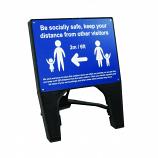 Social Distancing Q Sign - Be Socially Safe