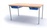 1100 x 550mm Classroom Table C/W Trays