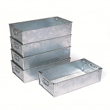 Galvanised Steel Tote Pans Packs of Five