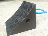 Rubber Wheel Chock with Rope Handle
