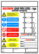 Weight Load Notices - Drive Thru' Racking
