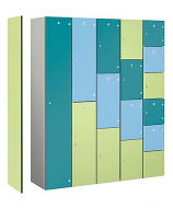 Zenbox Aluminium Lockers with Laminated Doors - 1 Door