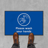 Please Wash your Hands Floor Mats - 600 x 950 mm (Pack of 2)
