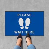 Please Wait Here Floor Mats - 600 x 950 mm (Pack of 2)