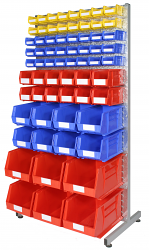 Anco Louvre Racks and Plastic Bins Kits