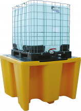 Single IBC Spill Pallet with Grid
