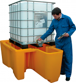 Single IBC Spill Pallet with Dispensing Well
