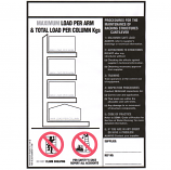 Weight Load Notices - Cantilever Racking