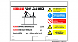 Weight Load Notices - Mezzanine Floors