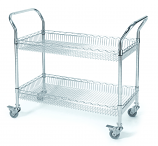 Chrome Wire Basket Trolley