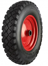 BW Series - Black Pneumatic Tyred Wheels with Metal Centres