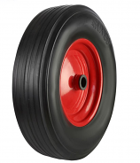 BW Series - Black Solid Rubber Tyred Wheels with Metal Centres
