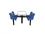 4 Seater Canteen Table - Access 1 Way