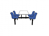 4 Seater Canteen Table - Access 2 Way