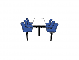 6 Seater Canteen Table - Access 1 Way