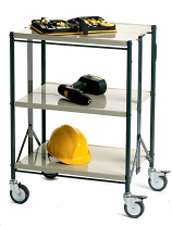 Folding Steel Tray Shelf Trolley