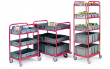 Container Trolleys With 3 Containers