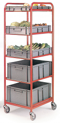 Container Trolleys With 5 Containers