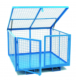 Security Cage with Lift-up Lid 1860mm Wide