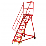Fort Heavy Duty Vantage GS Mobile Warehouse Steps - Steel Treads