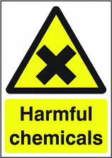Harmful Chemicals Sign