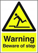 Warning Beware of Step Sign