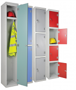 Laminated Door Lockers - 450mm Deep