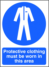 Protective Clothing Must be Worn in this Area Sign