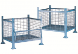Mesh Box Pallet with Half Drop Side - 1000kgs Capacity