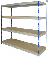Anco Medium Duty Rivet Racking - 4 Shelves