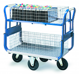 Mail Platform Trolleys - With Large Baskets