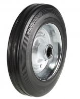 NSS Series - Black Solid Rubber Tyred Wheels with Metal Centres