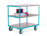 Budget Range Shelf Trucks - 3 Shelf with Push Handle