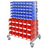 Anco Plastic Storage Bin Trolley 144 Bins